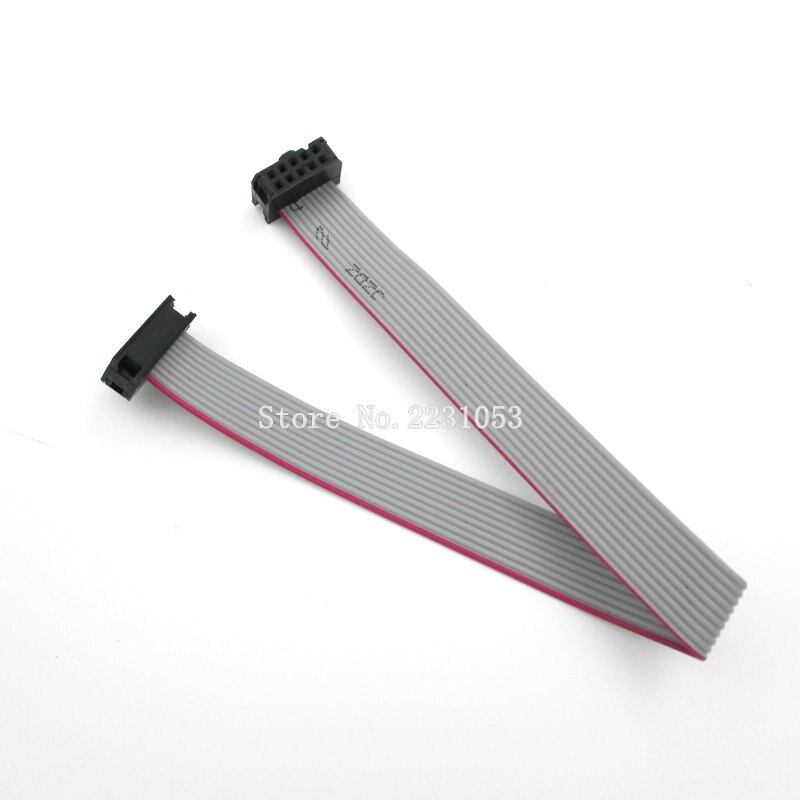 [해외]5 개/몫 FC-10P 10 핀 2.54mm 피치 20 cm jtag avr 다운로드 케이블 와이어 커넥터 회색 플랫 리본 데이터 케이블/5 개/몫 FC-10P 10 핀 2.54mm 피치 20 cm jtag avr 다운로드 케이블 와이어 커넥터