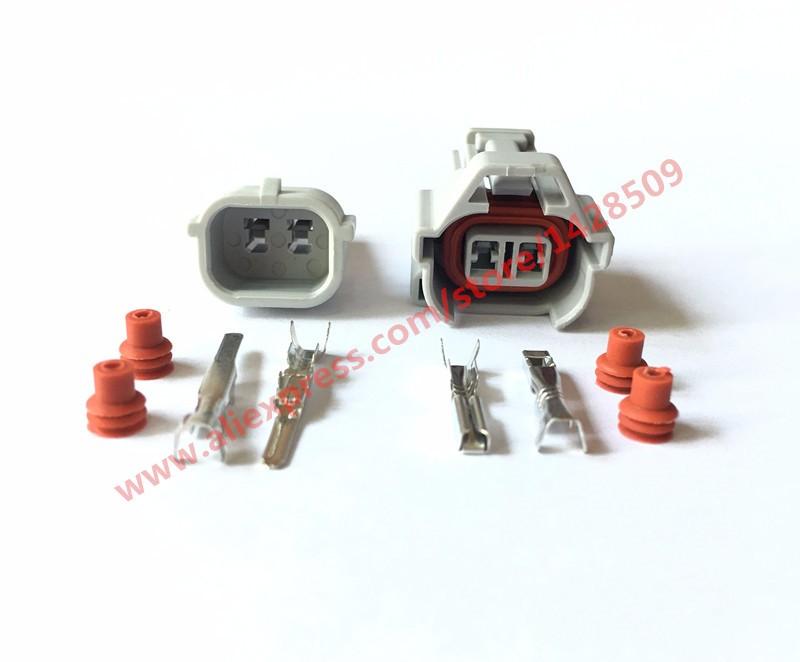 [해외]5 set nippon denso 2 핀 방수 암수 상단 슬롯 연료 인젝터 커넥터 6189-0060/5 set nippon denso 2 핀 방수 암수 상단 슬롯 연료 인젝터 커넥터 6189-0060