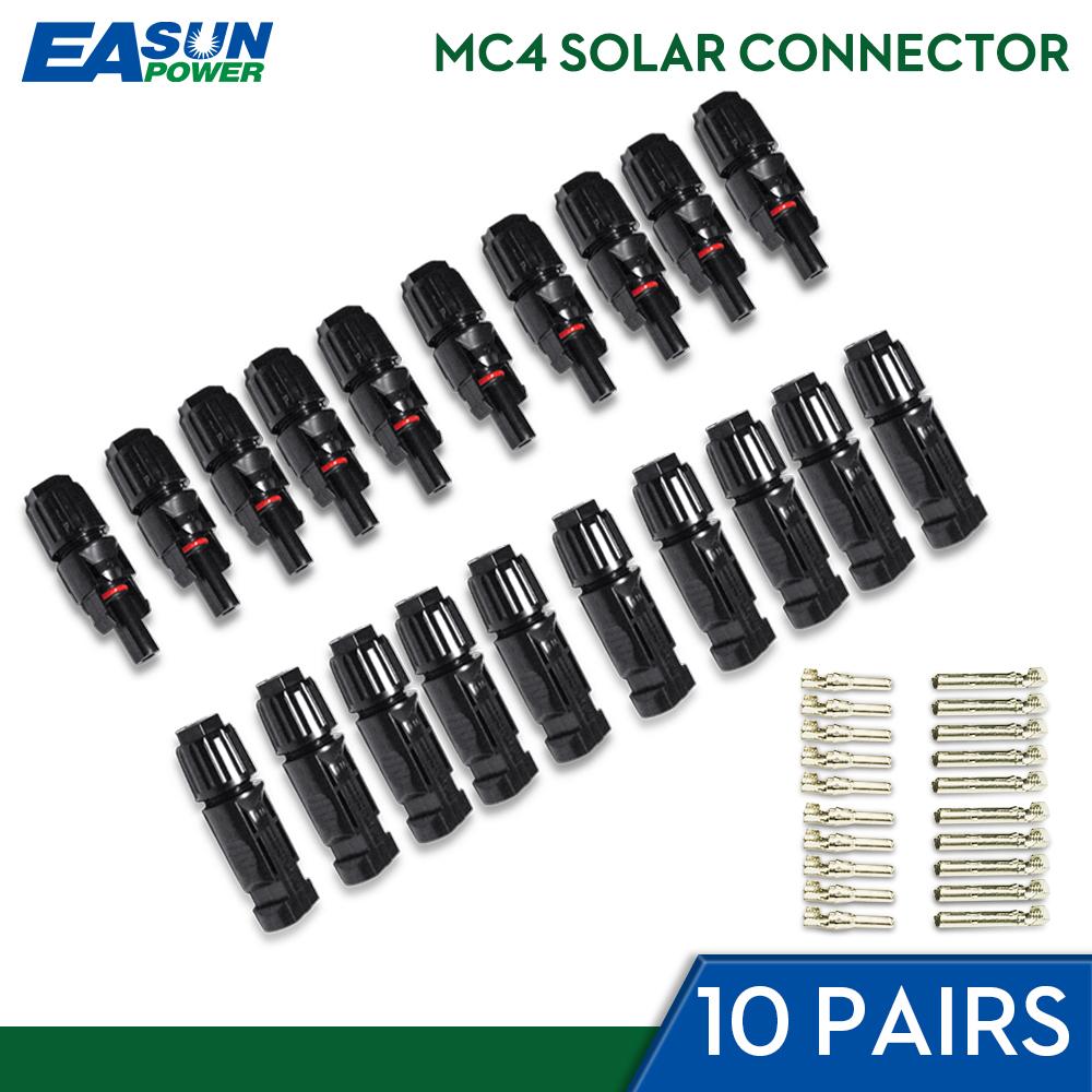 [해외]Easun 전원 10 쌍 x mc4 커넥터 남성 여성 태양 커넥터 mc4 태양 전지 패널 분기 시리즈 태양 광 발전 시스템에 연결/Easun 전원 10 쌍 x mc4 커넥터 남성 여성 태양 커넥터 mc4 태양 전지 패널 분기 시리즈 태양 광 발