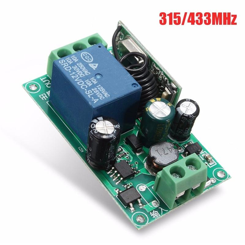 [해외]220 v 1 채널 무선 릴레이 rf 원격 제어 스위치 헤테로 다인 수신기 315/433 mhz 고품질/220 v 1 채널 무선 릴레이 rf 원격 제어 스위치 헤테로 다인 수신기 315/433 mhz 고품질