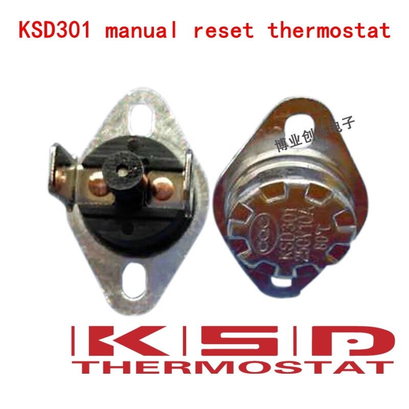 [해외]5 pcs ksd301/ksd303 45-150 섭씨 수동 리셋 온도 조절기 정상 폐쇄 (n.c) 온도 스위치 온도 제어/5 pcs ksd301/ksd303 45-150 섭씨 수동 리셋 온도 조절기 정상 폐쇄 (n.c) 온도 스위치 온도 제어