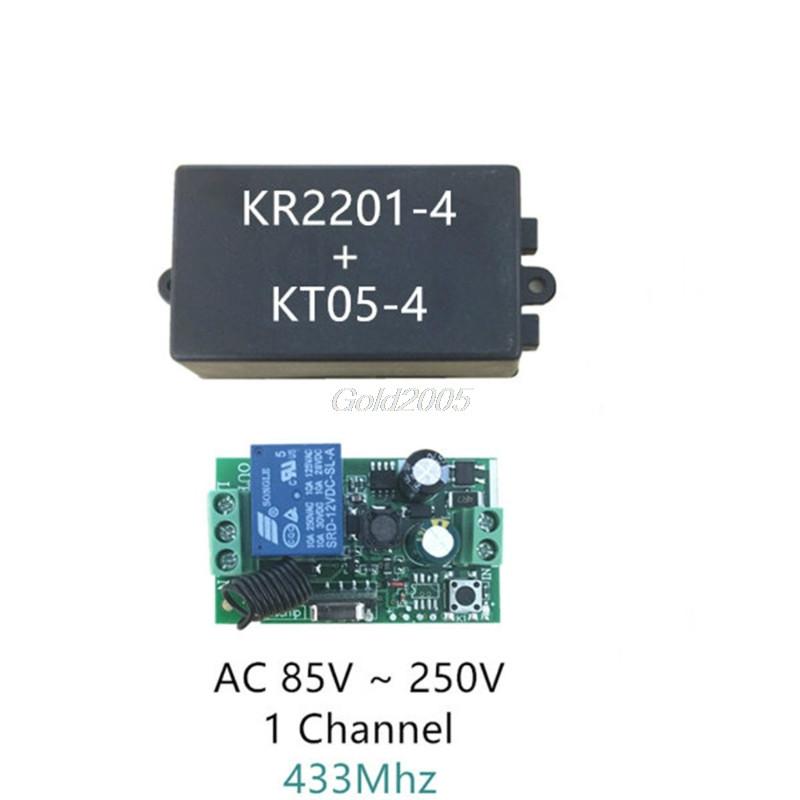 [해외]Ac 220 v 1ch rf 433 mhz 무선 원격 제어 스위치 모듈 학습 코드 릴레이 4 월 드롭 선박/Ac 220 v 1ch rf 433 mhz 무선 원격 제어 스위치 모듈 학습 코드 릴레이 4 월 드롭 선박