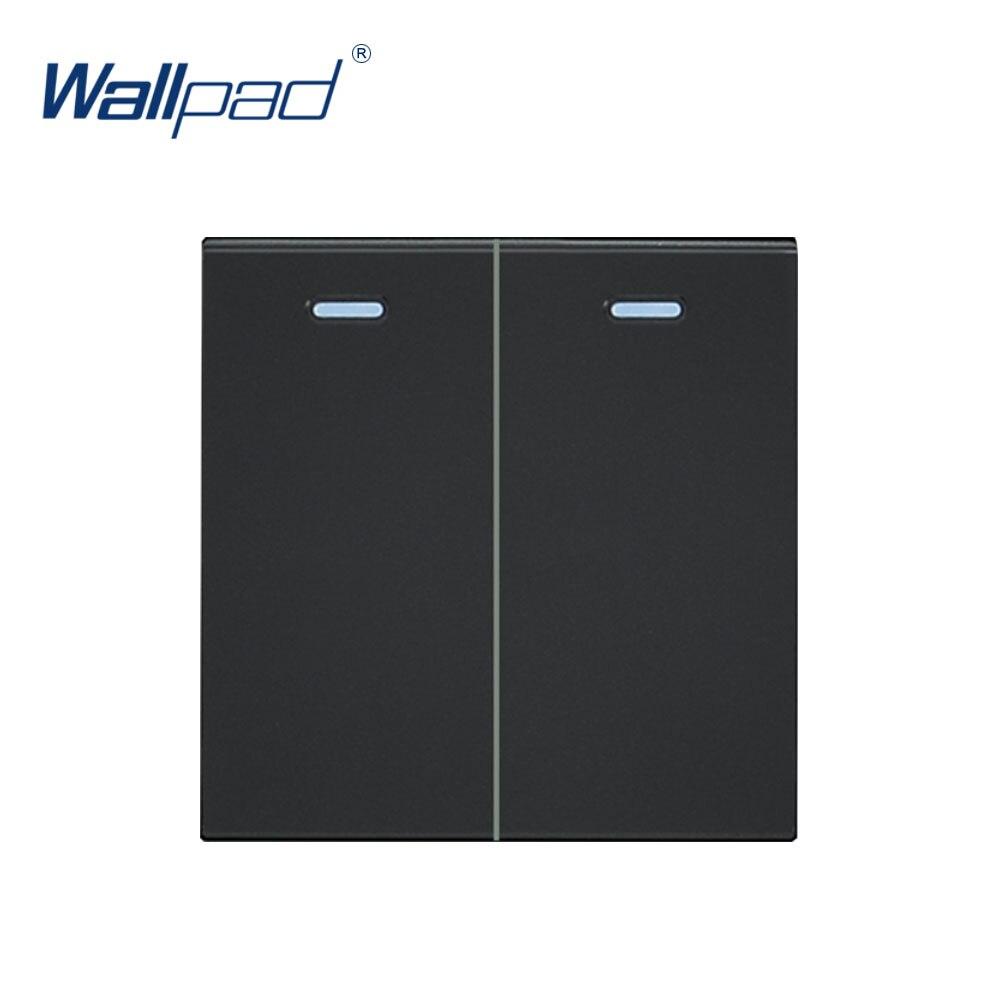 [해외]Wallpad 2 갱 2 방법 로커 기능 푸시 버튼 스위치 기능 키 moduler 전용 55*55mm/Wallpad 2 갱 2 방법 로커 기능 푸시 버튼 스위치 기능 키 moduler 전용 55*55mm