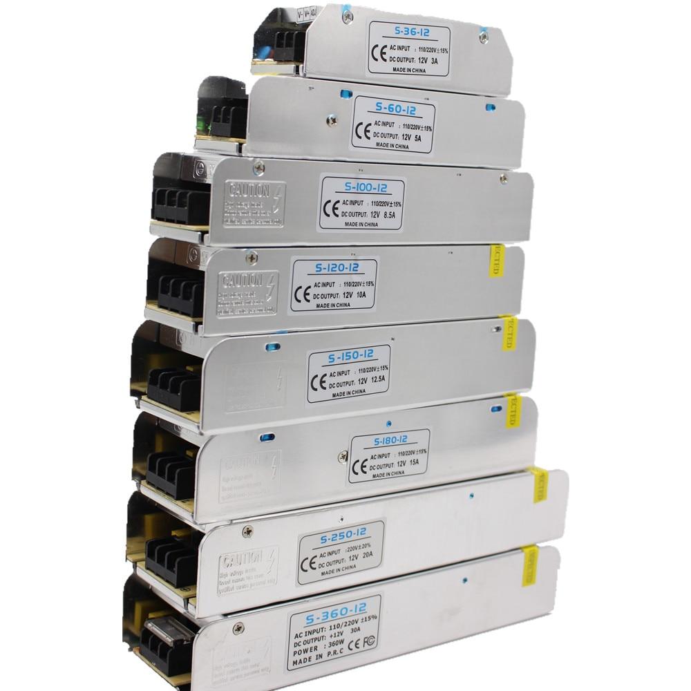 [해외]3/5/10 // 15/30a led 전원 공급 장치 dc12v 36 w 60 w 120 w 150 w 180 w 200 w 240 w 360 w led 드라이버 전원 어댑터 led 조명 트랜스 포 머/3/5/10 // 15/30a led 전원