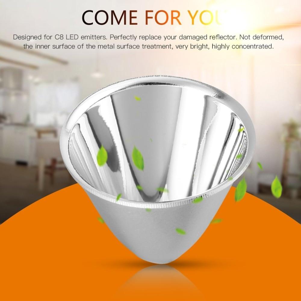 [해외]5 pcs 교체 플라스틱 반사판 컵 램프 c8 xm-l led 손전등 토치 diy 램프 빛에 대 한 알루미늄 실버 설치하기 쉬운