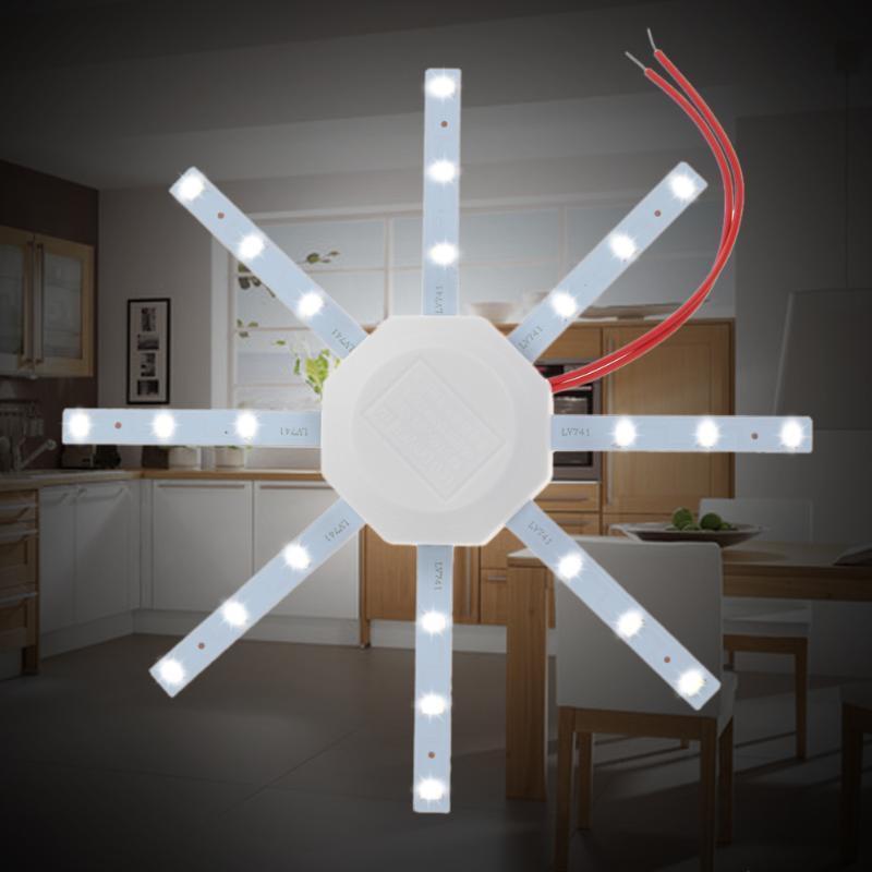 [해외]1 pcs led celling 램프 화이트 문 어 라운드 주방 램프 침실 12 w 5730 smd/1 pcs led celling 램프 화이트 문 어 라운드 주방 램프 침실 12 w 5730 smd
