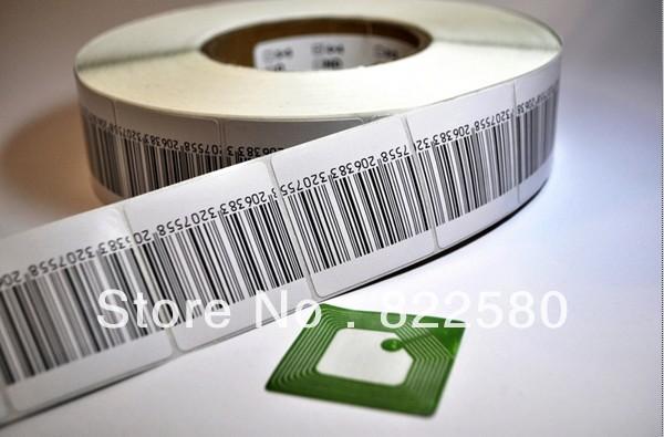 [해외]도난 방지를고품질 EAS의 RF 8.2mhz 부드러운 라벨 4 * 4cm의 RF 바코드 라벨/High quality eas rf 8.2mhz soft label 4*4cm rf barcode label for anti-theft