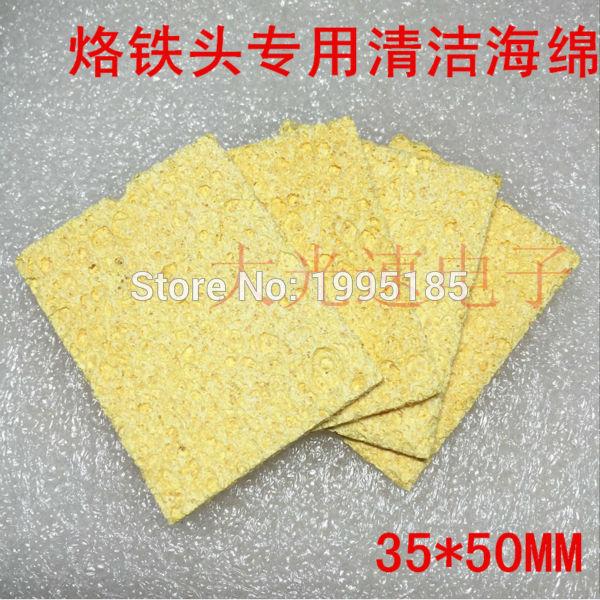 [해외]Clean tool 50pcs High Temperature Enduring Condense Electric Welding Soldering Iron Cleaning Sponge Yellow New Arrival Hot/Clean tool 50pcs High T