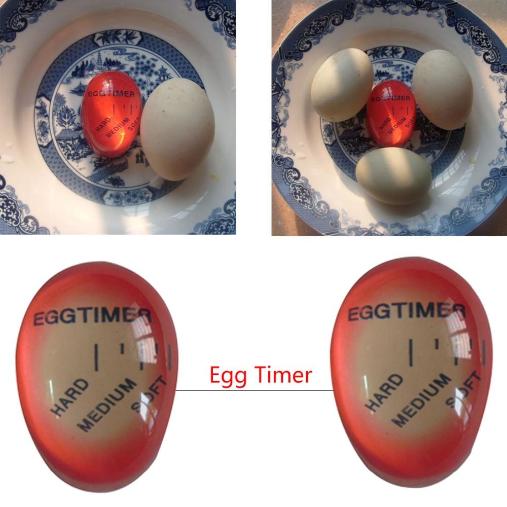 [해외]1pcs Egg Perfect Color Changing Timer Yummy Soft Hard Boiled Eggs Cooking Kitchen Eco-Friendly Resin Eggs Timer/1pcs Egg Perfect Color Changing Ti