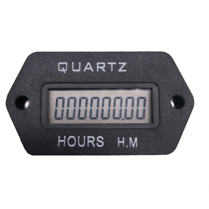[해외]LCD Digital Hour Meter Accumulate timer counter 999999.59 snap in Vehicle Boat Truck Motorcycle for generator DC 12-36V/LCD Digital Hour Meter Acc