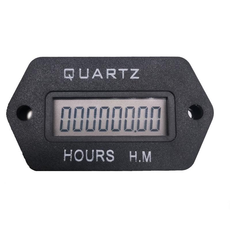 [해외]LCD Digital Hour Meter Accumulate timer counter 999999.59 snap in Vehicle Boat Truck Motorcycle for generator DC 12-36V/LCD Digital Hour Meter Acc