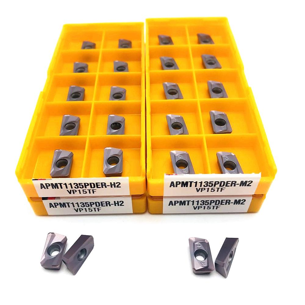 [해외]Lathe tool APMT1135 PDER VP15TF UE6020 new carbide tool metal milling tool CNC machine tool accessories milling blade/Lathe tool APMT1135 PDER VP1