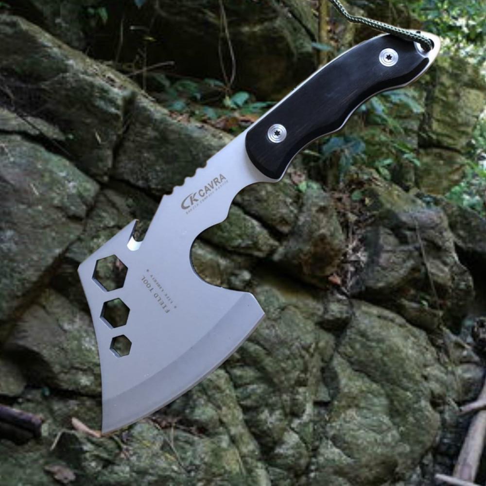 [해외]Multifunctional Survival Outdoor Camping Axe Hunting Hatchet Tomahawk Fire Axes Portable Hand Tools axeWhite Blade/Multifunctional Survival Outdoo