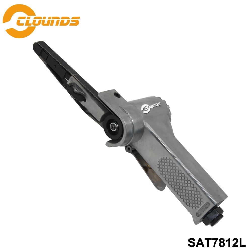 [해외]Sat7812 공기 샌딩 도구 공압 연삭 기계 18000 rpm 샌딩 공기 벨트 샌더