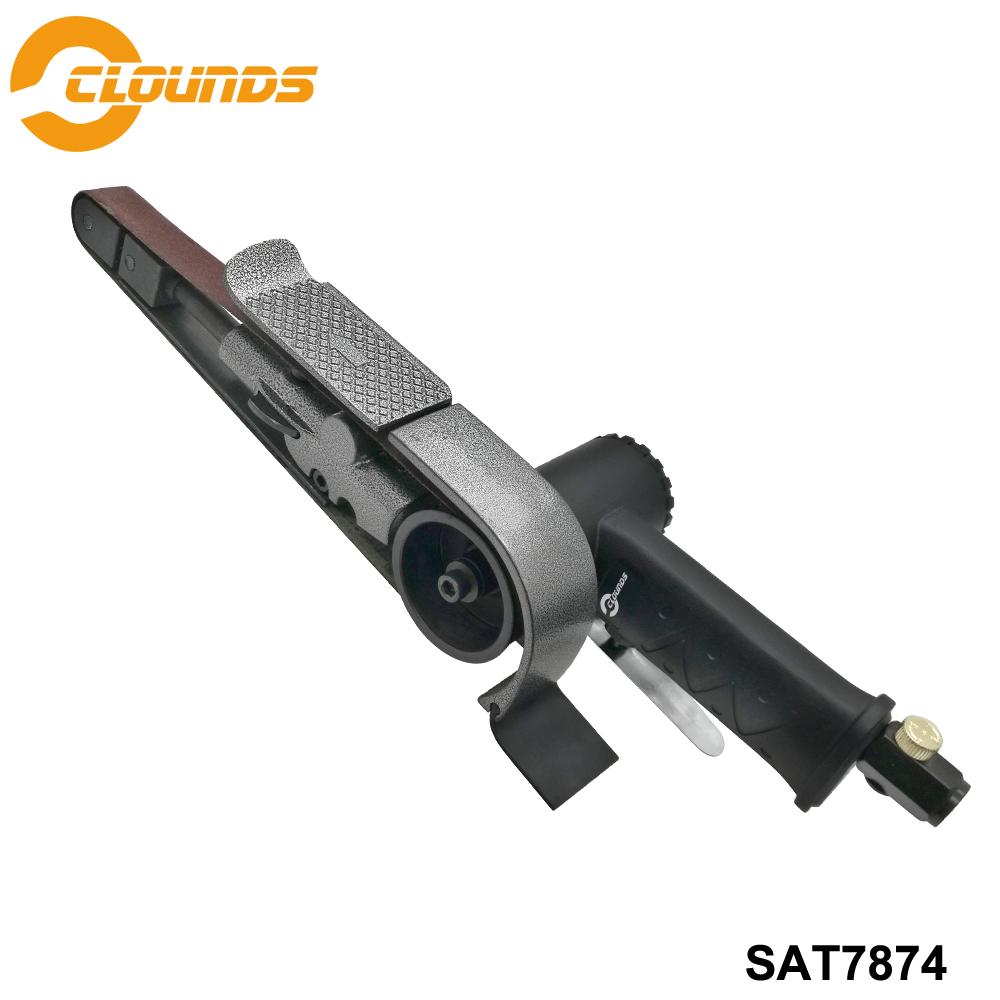 [해외]Sat7874 공기 샌딩 도구 공압 연삭 기계 13000 rpm 공기 벨트 샌더