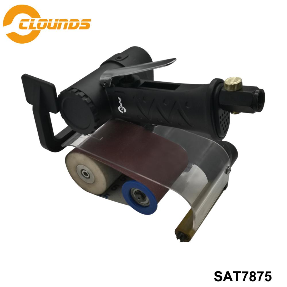 [해외]Sat7875 공기 샌딩 도구 공압 연삭 기계 13000 rpm 공기 벨트 샌더