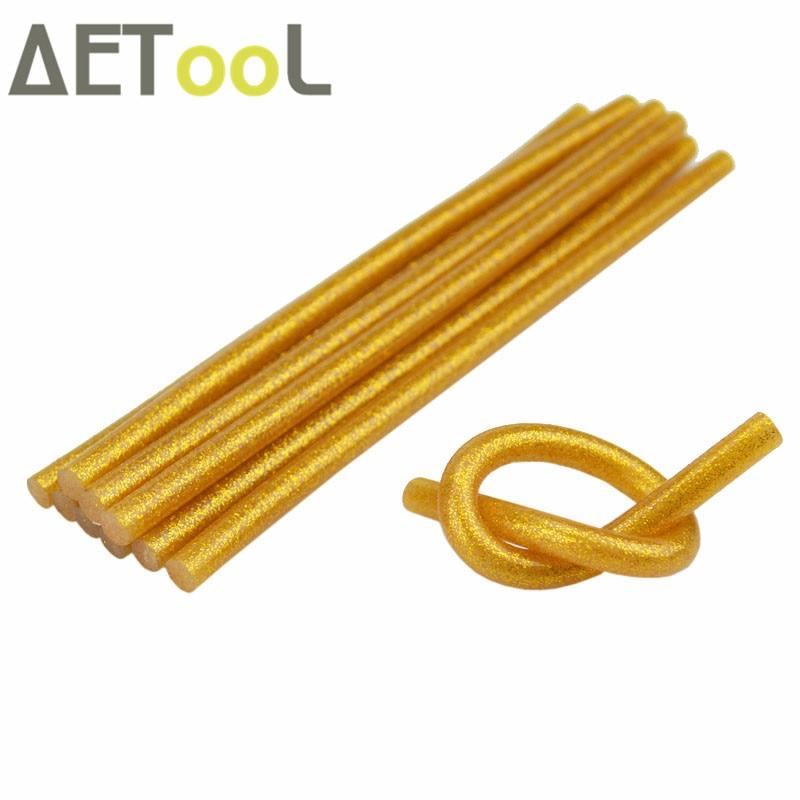 [해외]AETool 7x180MM Gold color Glitter Glue Hot Melt Glue Sticks 7MM For Glue Gun Craft Multifunction Repair Tool DIY Adhesive Stick/AETool 7x180MM Gol