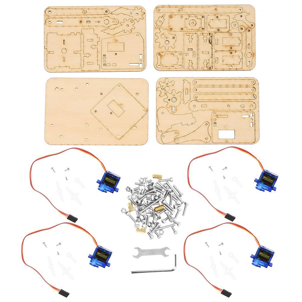 [해외]4 DOF Wood Robotic Mechanical Arm sg90 Servo for Arduino Raspberry Pi SNAM1500 Durable/4 DOF Wood Robotic Mechanical Arm sg90 Servo for Arduino Ra