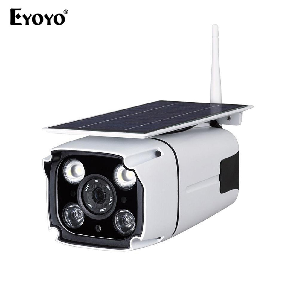 [해외]Eyoyo ZIP218 Solar Powered 4mm Outdoor WIFI IP Camera 1280*960 Resolution Security Waterproof Night Version IP Camera/Eyoyo ZIP218 Solar Powered 4
