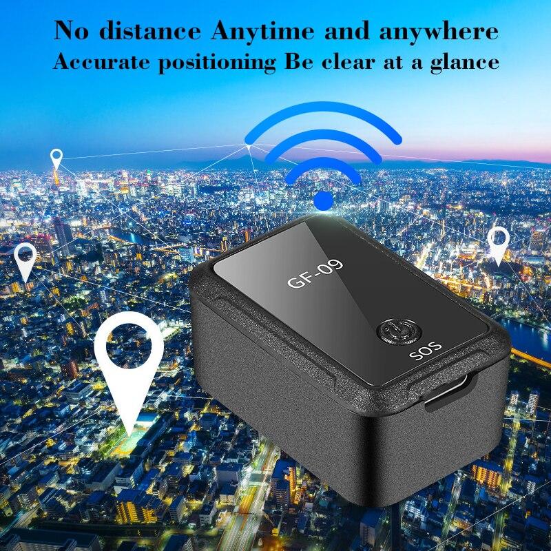 [해외]새로운 미니 GF-09 gps 긴 대기 자기 sos 추적 장치 차량/자동차/사람 위치 app 제어 트래커 로케이터 시스템