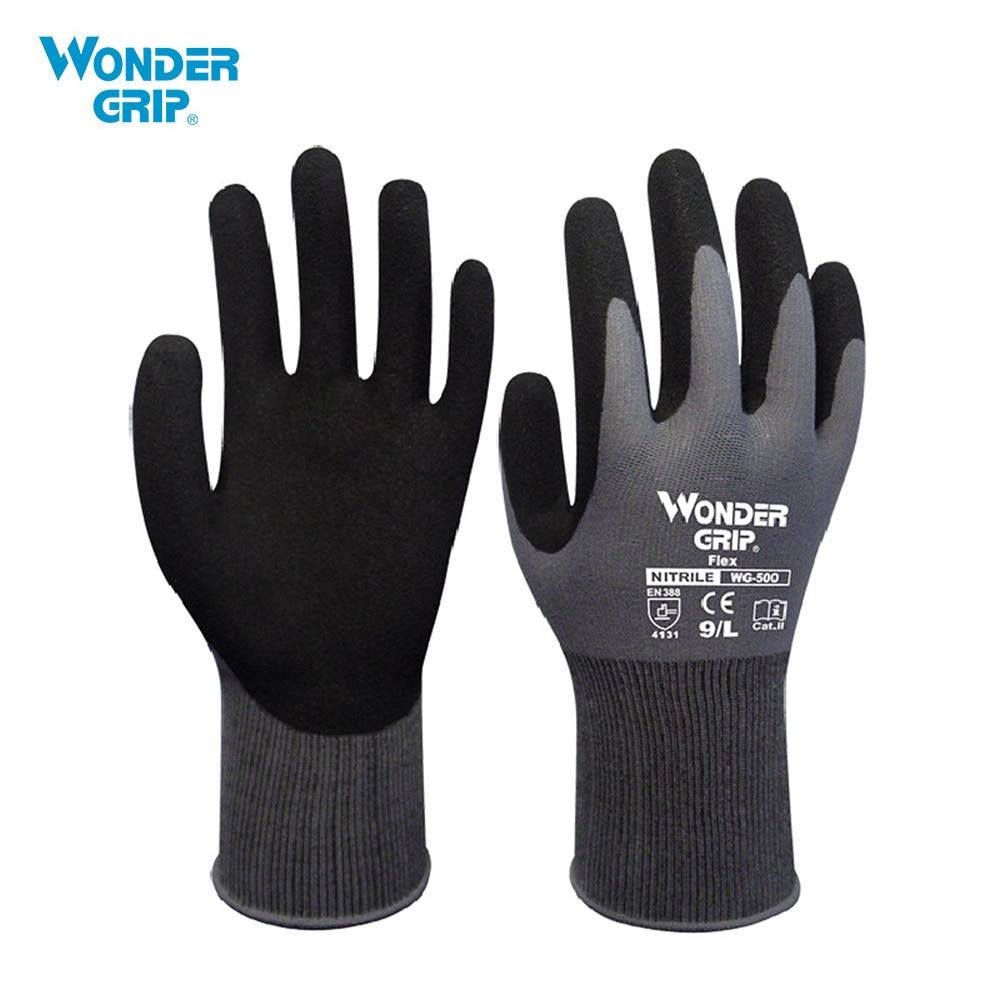 [해외]Wonder Grip Garden Safety Glove NylonNitrile Sandy Coated Work Glove Abrasion-proof Universal Working Gloves/Wonder Grip Garden Safety Glove Nylon