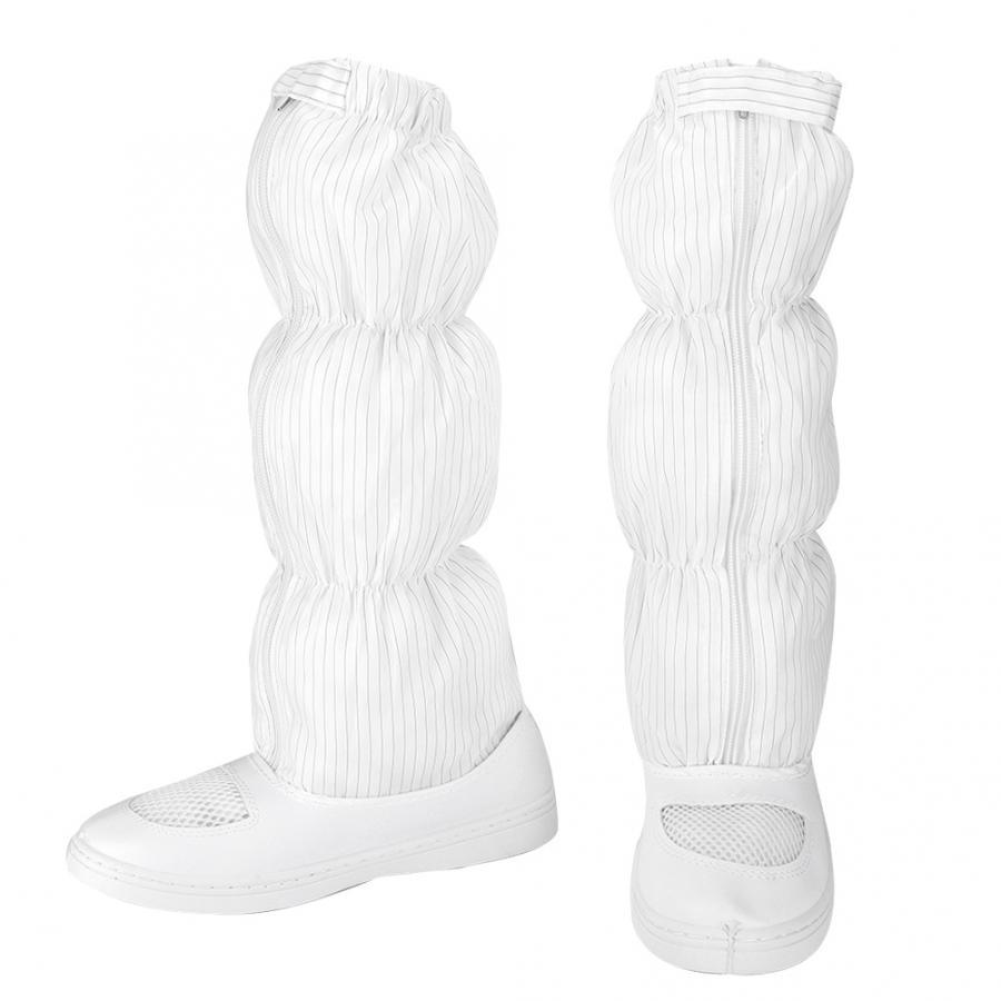 [해외]1 pair 화이트 메쉬 미끄럼 방지 정전기 방지 신발 방진 롱 부츠 안전 먼지가없는 워크샵 판매 중/1 pair 화이트 메쉬 미끄럼 방지 정전기 방지 신발 방진 롱 부츠 안전 먼지가없는 워크샵 판매 중