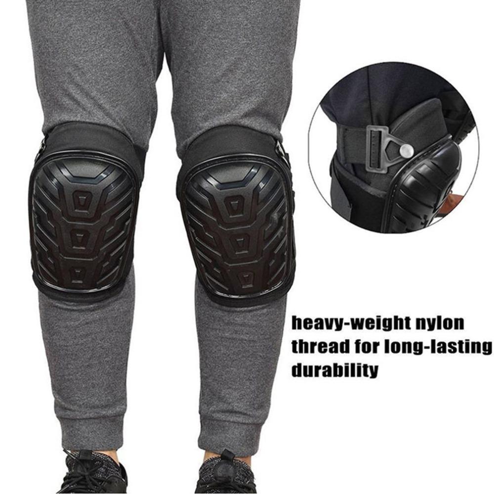 [해외]1 Pair Professional Knee PadsAdjustable Straps Safe EVA Gel Cushion PVC Shell Knee Pads for Heavy Duty Work/1 Pair Professional Knee PadsAdjustabl