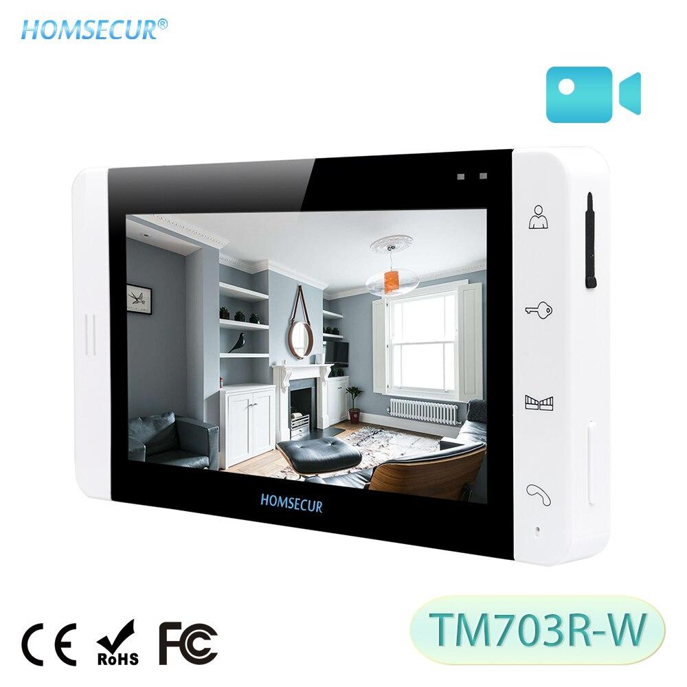 [해외]HOMSECUR TM703R-W Indoor Monitor For HDW Wired Video Door Phone Intercom System/HOMSECUR TM703R-W Indoor Monitor For HDW Wired Video Door Phone In