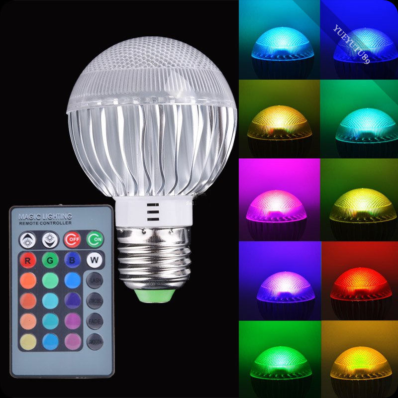 LEDGOO E27 전구 Led RGB 전구 15W Rgb 컨트롤러 LED 빛 색상 변경 램프 전구 85-265V 15W 리모콘/LEDGOO E27 bulb Led RGB Light Bulb 15W Rgb Controller LED Light Color Chan