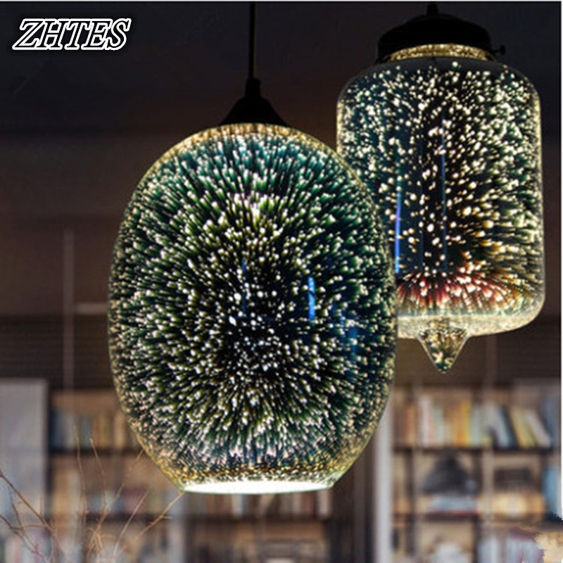 레스토랑 식사를3D 불꽃 놀이 유리 펜 던 트 조명 거실 조명기구 110-240V/3D Fireworks Glass Pendant Light for Restaurant Dining Living Room Lighting Fixtures 110-240V